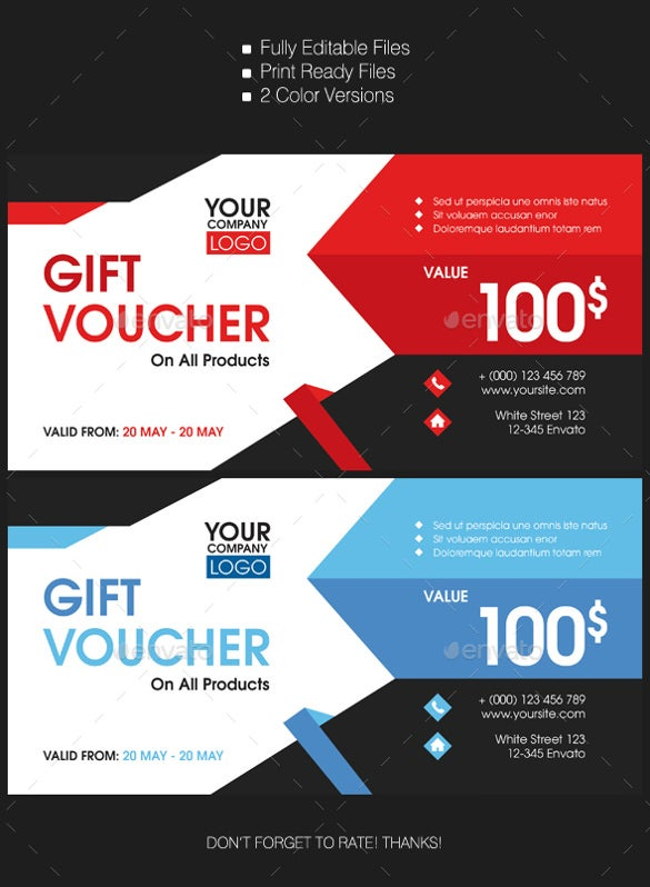 22 Gift Voucher Templates Free PSD EPD Format Download – Voucher Templates Word