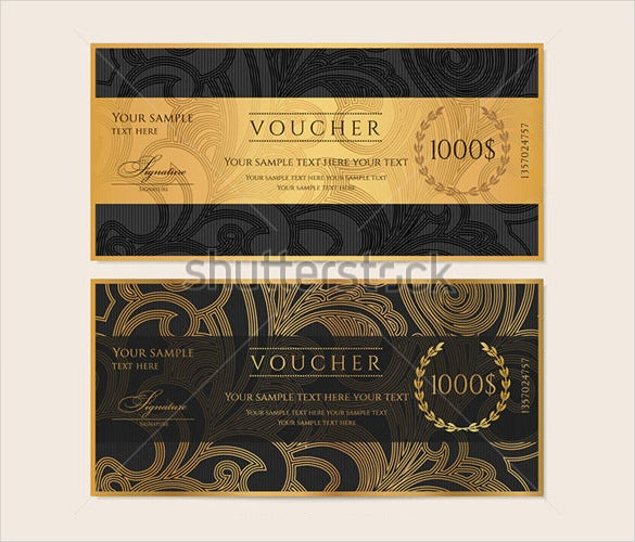 gold vector gift certificate voucher download