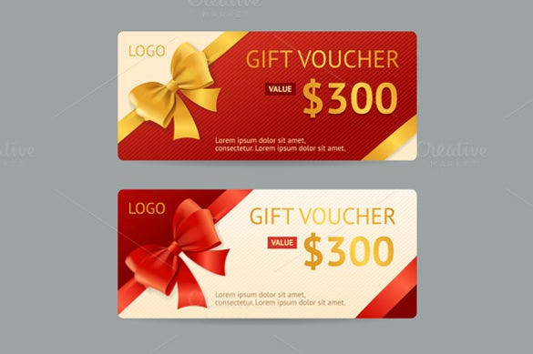 Vector Gift Voucher Template Download  Gift Certifcate Template