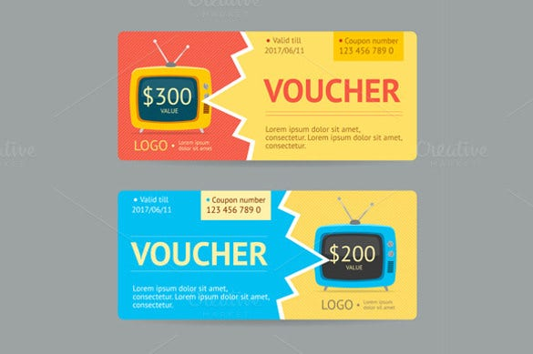 gift voucher vector template download