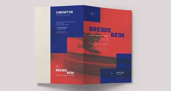 breede bi fold brochure template design download1
