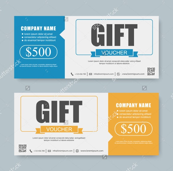 voucher gift certificate coupon template download