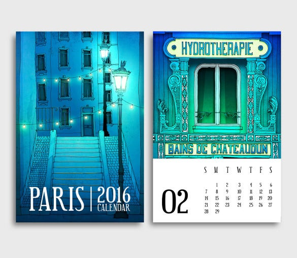 2016 paris desk calendar