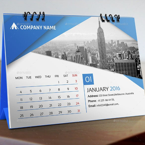 Calendar Design Templates Free Download : Desk calendar template free psd ai indesign eps