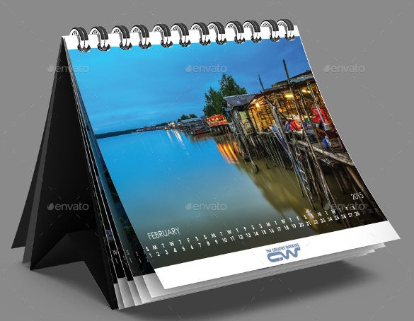 Desk Calendar Photography : Desk calendar template free psd ai indesign eps