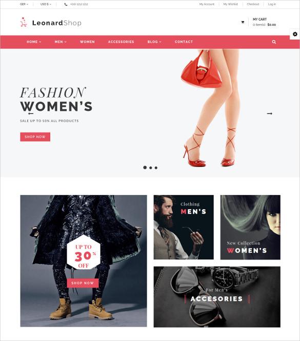 leonard shop responsive joomla template