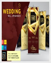 Rollup Wedding Banner Template Download