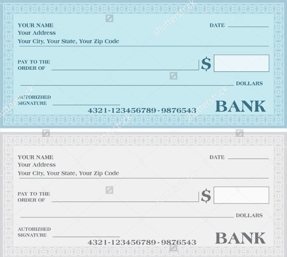payment voucher bank cheque vector template download
