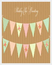 Shabby Bridal Shower Template Download