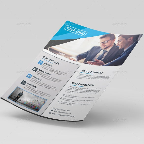 editable corporate flyer template