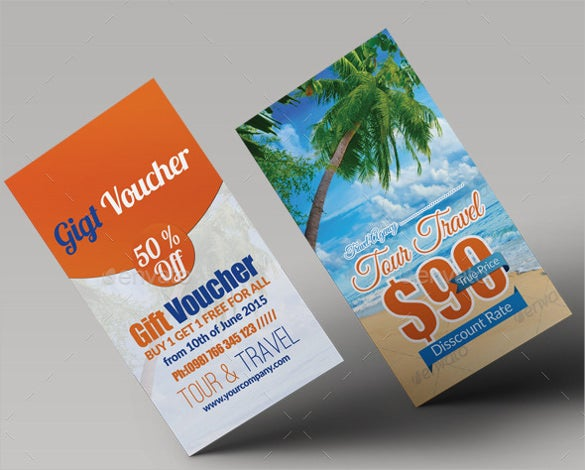 tour travel gift voucher vector eps template download