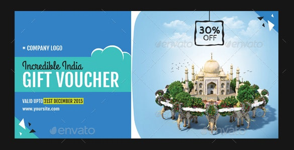 incredible india travel gift voucher ai illustrator template download
