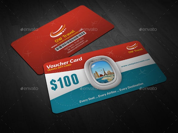 travel gift voucher card template download