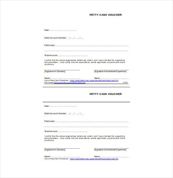 petty cash free pdf template download