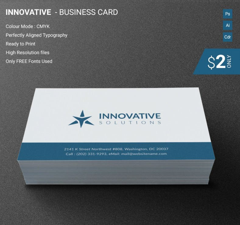 Perfect Innovative Business Card Template | Free & Premium Templates
