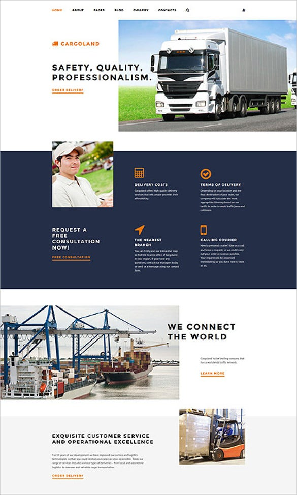 safty transporation joomla website template