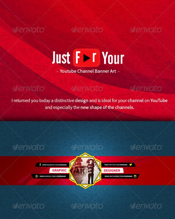 elegant youtube sample banner template