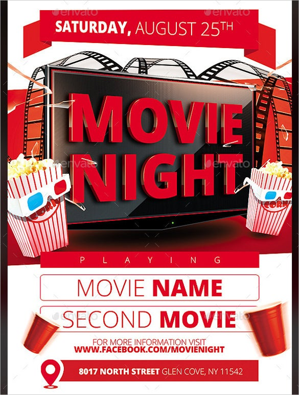 Outdoor Movie Night Flyer Template  Image Mag