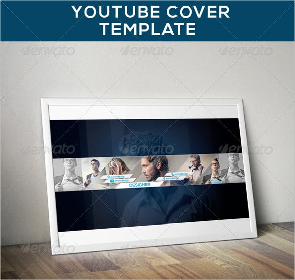 professional youtube sample banner template