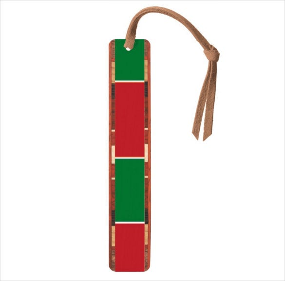red green color corner bookmark