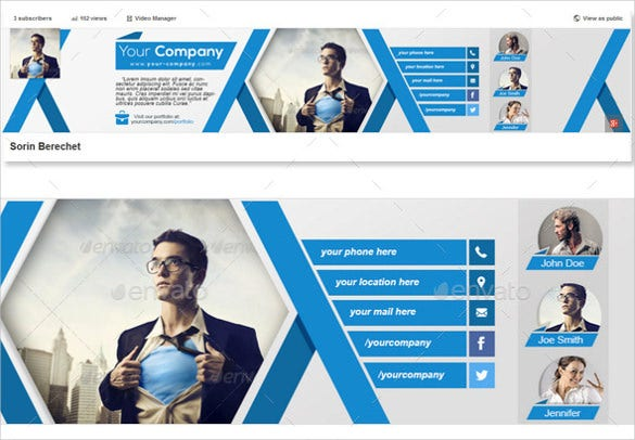 corporate youtube sample banner template