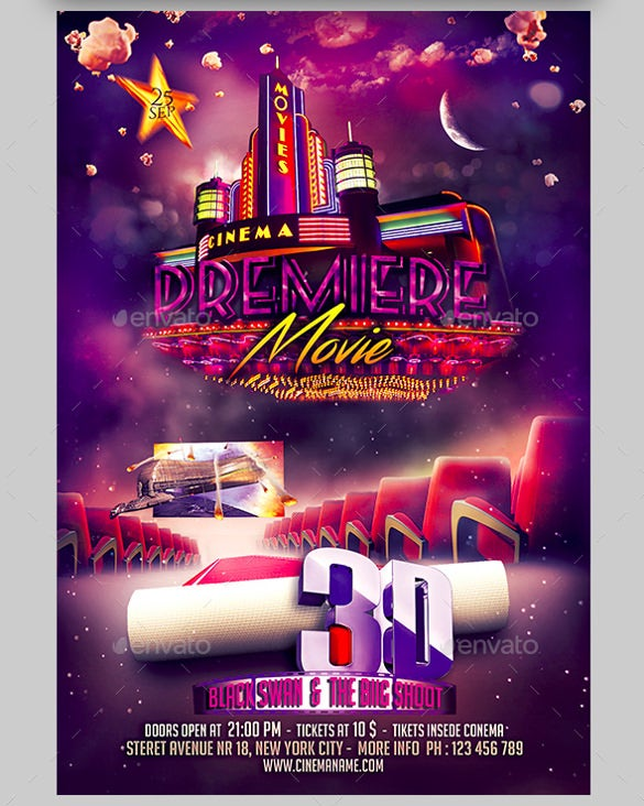 movie night flyer bundle template