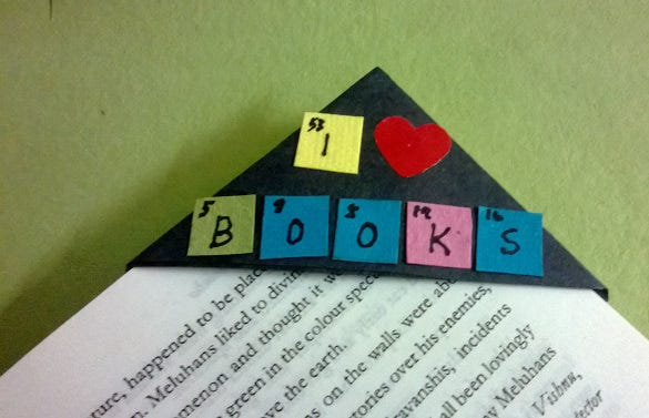 handmade corner bookmark free download