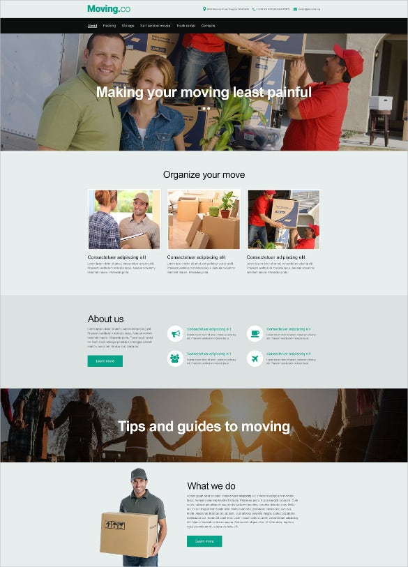 shifting transporation company muse website template1
