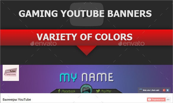 gaming youtube sample banner template
