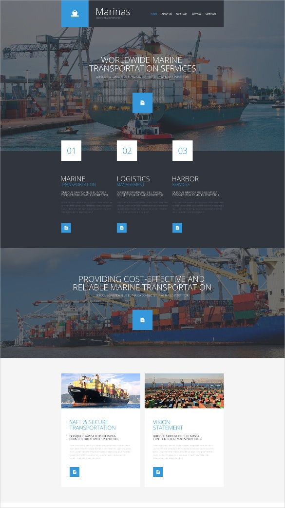 responsive transportation website template