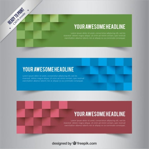 abstract cube free sample banner template