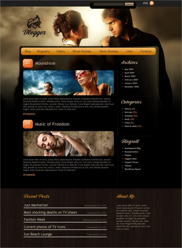 awesome music blog psd template