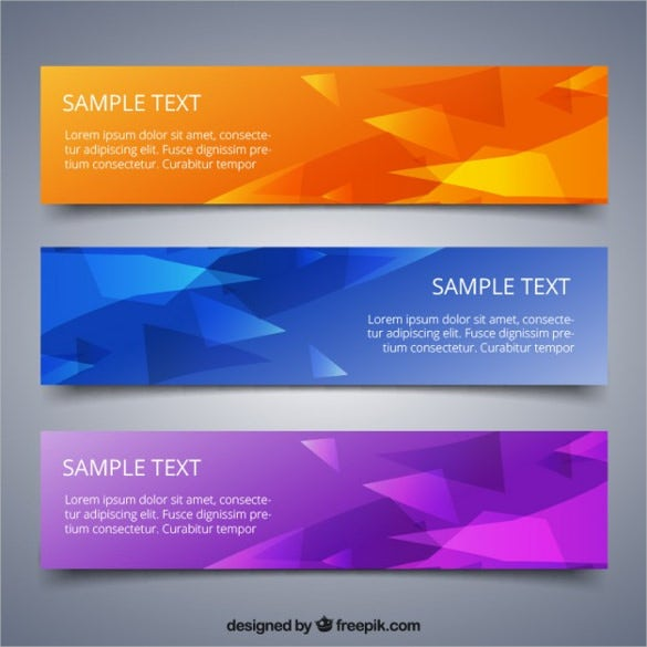 simple free banner template