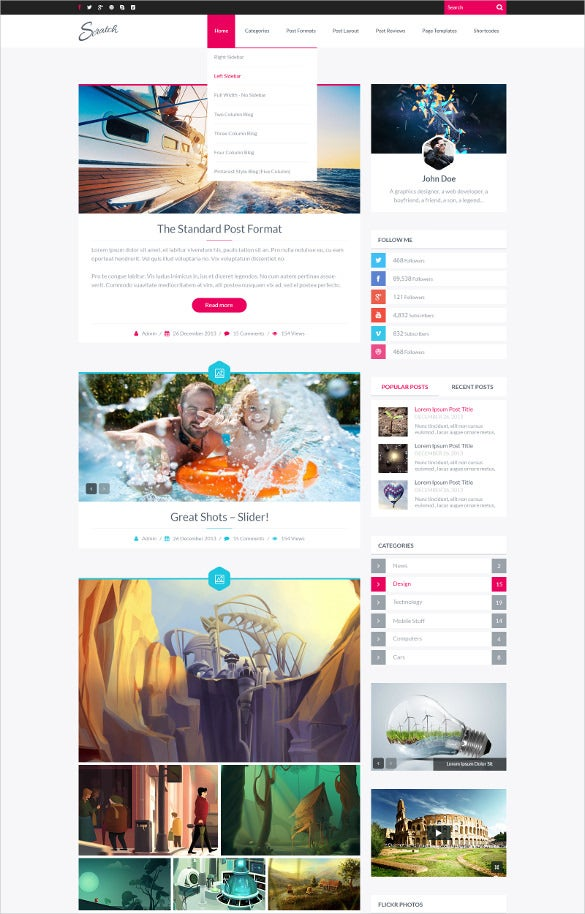 amazing psd blog template