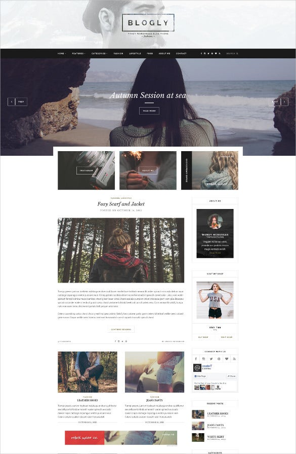 fancy psd blog template