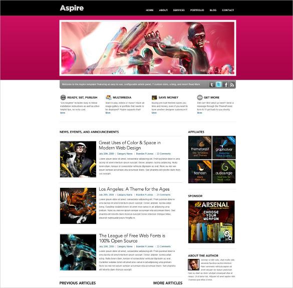 premium psd blog portfolio template