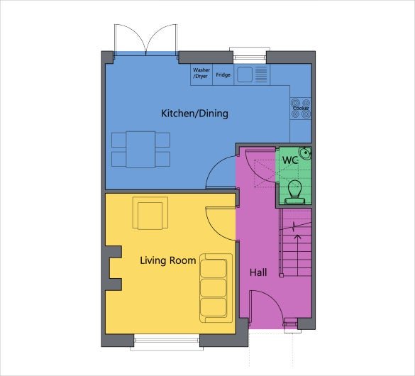 17 floor plan templates pdf doc excel free for Make a room layout online