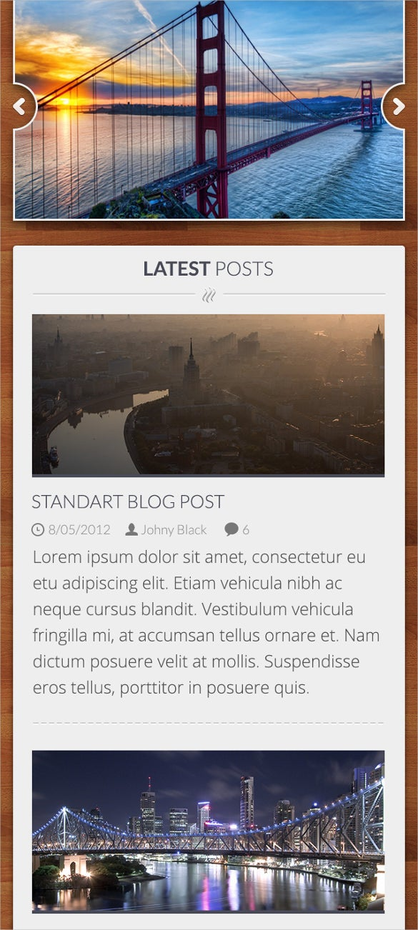 mobile blog psd template