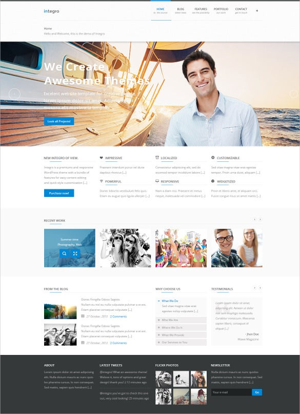 portfolio blog psd template