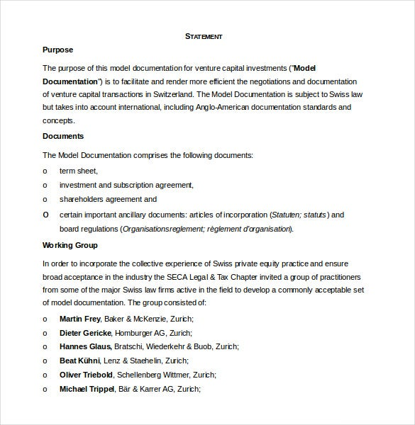 Investment Agreement Template  Free Word  Documents