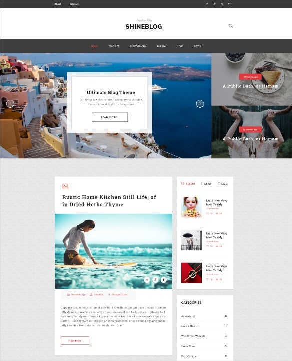 multipurpose blogging psd template
