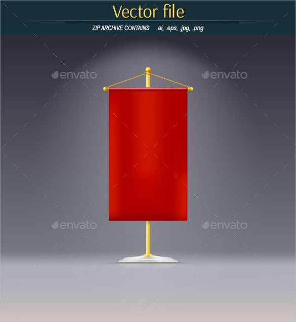 red pennant sample banner template