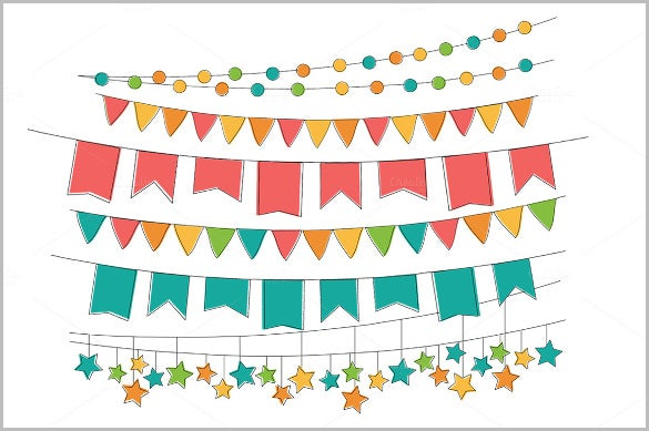 hand drawn pennant sample banner template