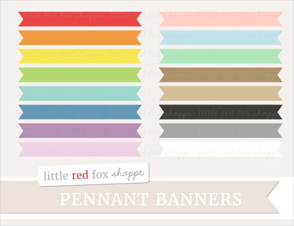label sample pennant banner template