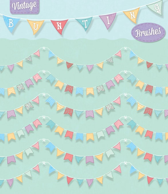 vintage pennant sample banner template