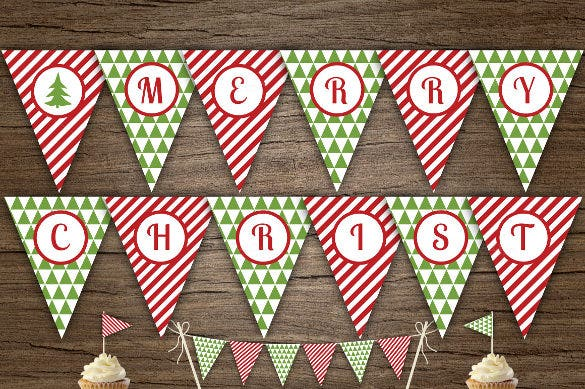 christmas pennant sample banner template