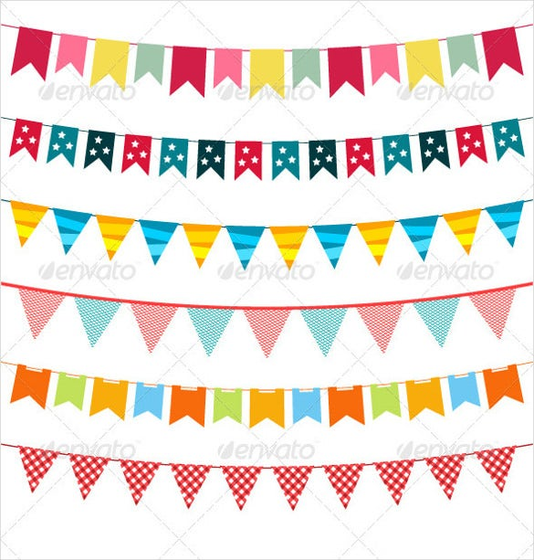 vector sample pennant banner template