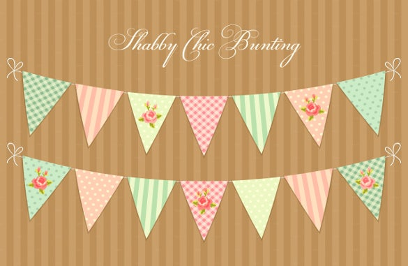 shabby pennant sample banner template