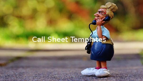 call sheet templates