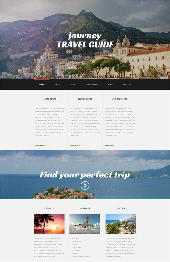 travel agency responsive moto cms 3 blogger template